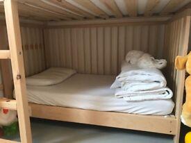 Child's cot bed IKEA Sniglar wood + pocket sprung mattress excellent condition FREE London E8