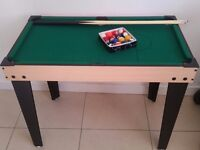 Kids small pool table used once 90cm length 50 cm wide