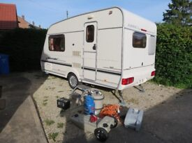 Abbey Aventura 312 2001 year 2 berth end kitchen 18 ft ,light weight,very clean,dry +accessories