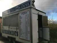 Burger and kebab trailer