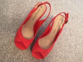 Ladies open toe wedge heeled sandles