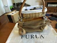Brown leather Furla handbag