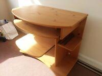 Wooden Computer Desk & Swivel Chair