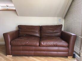 **2 seater leather sofa**