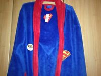 Mans Superman Dressing Gown