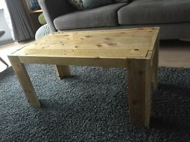 Reclaimed rustic wood coffee table