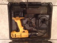 dewalt cordless drills with chargers one has case and hammer action £30 and other £25 or both £45