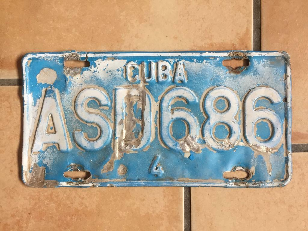 factory price 82b2c 627c0 Cuba Cuban Chapa License Plate Licence Plate Registration Plate Number  Plate  2