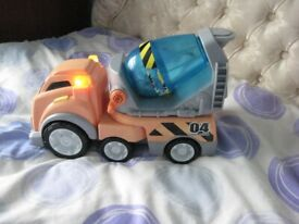 Large Toy Concrete Mixer Lorry with Flashing Lights and Several Sound Effects for £4.00