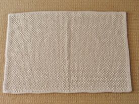 "Off White Cotton Bobbly / Small Dome Shaped Protusions Bath / Bathroom Mat 36"" X 24"""