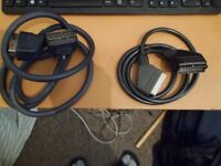 2 Scart cables