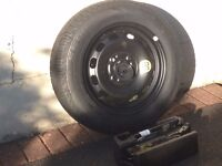 2009 Ford Fiesta Full Size Spare Wheel with New Tyre and Complete Jack kit