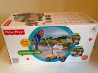 Fisher Price Stroll to Ride Trike 18m - 3Yrs Immaculate condition still in box!