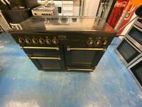 Black range master 110cm dull full cooker grill & double fan assets ovens with guarantee bargain