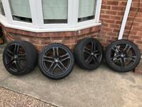 Renault megane 250 Cup alloy wheels and tyres x4 265 275