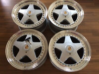 OZ FITTIPALDI WHEELS 17 5x130 8.5/9J PORSCHE SPLIT RIMS BBS RS RF MITO 964 911