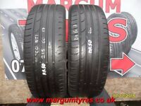AA.50 2X 25/60/17 96H 2X4MM TREAD CONTINENTAL PREMIUM CONTACT2 - USED TYRES