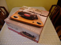 Used once -ION Audio Max LP Vinyl Record Player with Built-In Stereo Speakers and USB Conversion