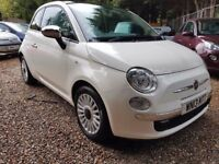 Fiat 500 1.2 Lounge 3dr (start/stop)£3,995 p/x welcome FREE 1 YEAR WARRANTY, NEW MOT