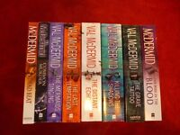 Set of 8 Val McDermid novels, as new - unread and in perfect condition (duplicate gift) £10