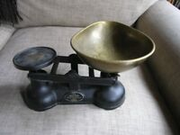 Vintage Kitchen Weighing Scales By Salters black Cast Iron