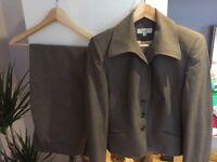 Next women tailoring grey suit jacket size 14, trouses 14L