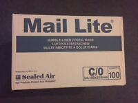 100 x White Bubble-lined CD mailer (Jiffy) bags, suitable for CDs