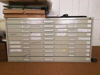 Large, 10-drawer plan chest