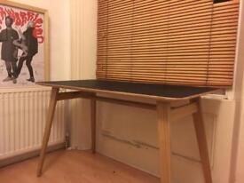 Plywood table / black top