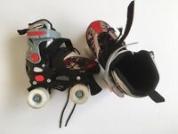 Kids Boys Girls Adjustable Roller Skates + Original Box - Childrens Size 11 - 13