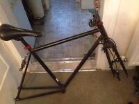 Black No Logos Bike Frame 53cm