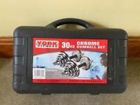 York Fitness 30kg cast iron dumbbell set