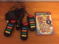 PlayStation 2 buzz game and controllers. Ps2
