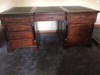 Large mahogany desk, excellent condition.