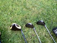Lynx Black Cat Driver Set - GOLF CLUBS - Great condition. New Grips & Shafts. Covers & Driving Iron