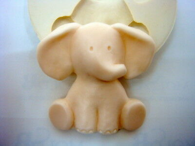 Baby elephant, Silicone Mold Mould Chocolate Polymer Clay Soap Candle Wax Resin