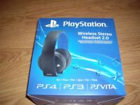 PlayStation 3/4 official surround sound 7.1 wireless headset