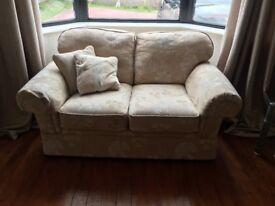 2 seater sofa and armchair -cream coloured
