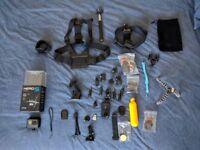 GoPro Hero 5 Black + 64gb card + many accessories