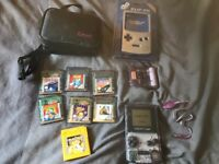 Gameboy colour, games and extras