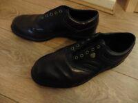 Men's Snakebyte Hi-tec Brown/Black Leather Golf Shoes, Size 10