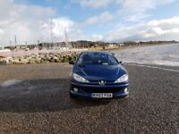 Peugeot 206 convertible only 50000 miles on the clock