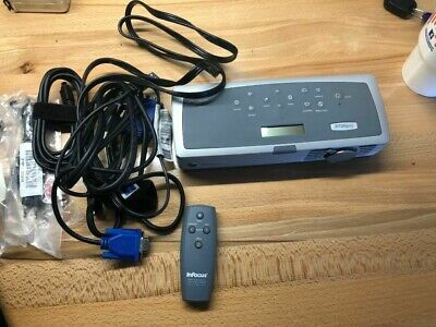 InFocus LP120 DLP Projector w/ cases, cables and remote