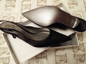 Satin Sling Back Shoes