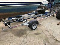 sbs single axle boat trailer braked