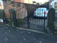 Sandstone Gate Posts & Iron Gates