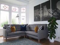 Grey Herringbone WESTBRIDGE Camden Corner Sofa