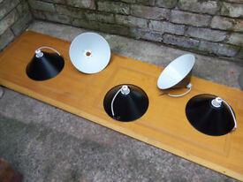 Black metal lampshades X5 Diameter 26cm