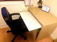 Chair and small desk