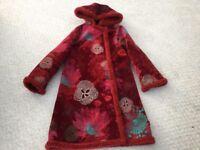 Kenzo girls velvet coat fur hood and lining age 10 as new